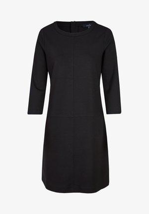 MIT VIELEN DETAILS - Jersey dress - schwarz