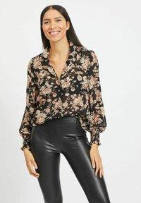 Vila - Button-down blouse - black - 0