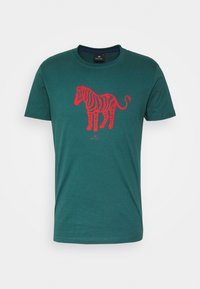 PS Paul Smith - MENS SLIM FIT DEVIL ZEBRA - Print T-shirt - dark green - 0