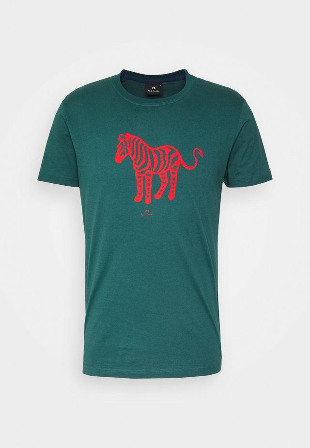 MENS SLIM FIT DEVIL ZEBRA - Camiseta estampada - dark green