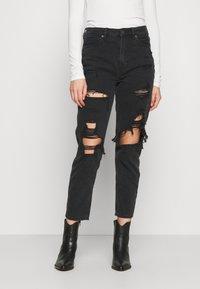 American Eagle - Slim fit jeans - destroyed black - 0