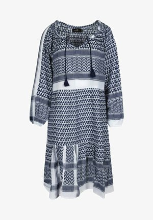 VALENTINA - Day dress - jeansblau weiß
