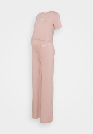 MATERNITY SCRIPT NIGHTWEAR TROUSER SET - Pyjamas - rose