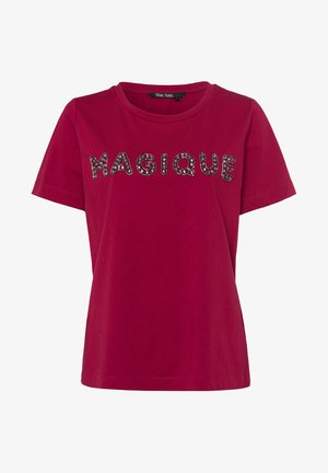 Print T-shirt - vino tinto varied