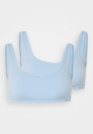 DAMEN BUSTIER 2ER PACK - Bustier - sky blue