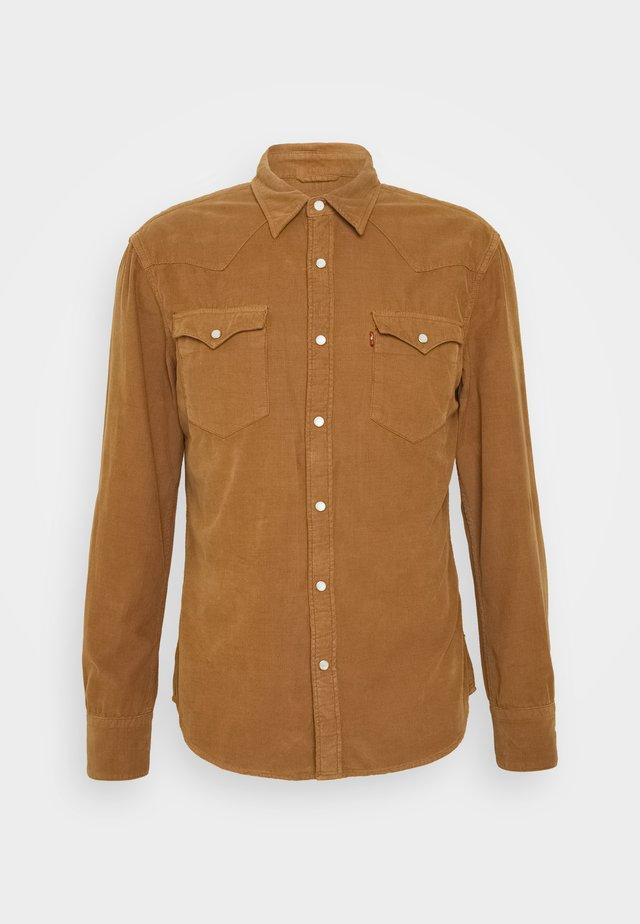 BARSTOW WESTERN SLIM - Shirt - garment dye cord toasted coconut