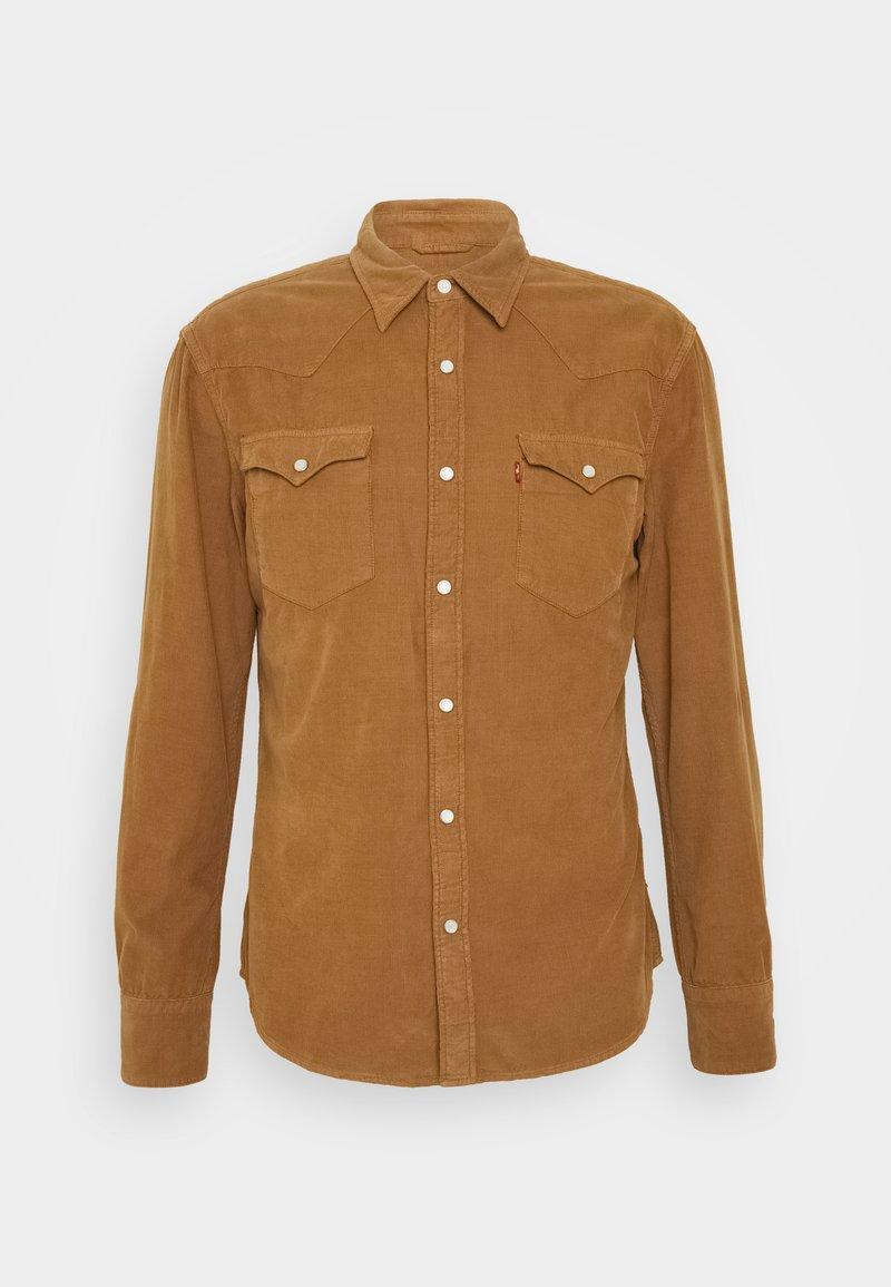 Levi's® - BARSTOW WESTERN SLIM - Overhemd - garment dye cord toasted coconut