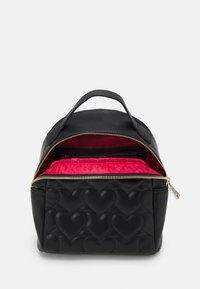 Love Moschino - HEART QUILTED BACKPACK - Plecak - nero - 3