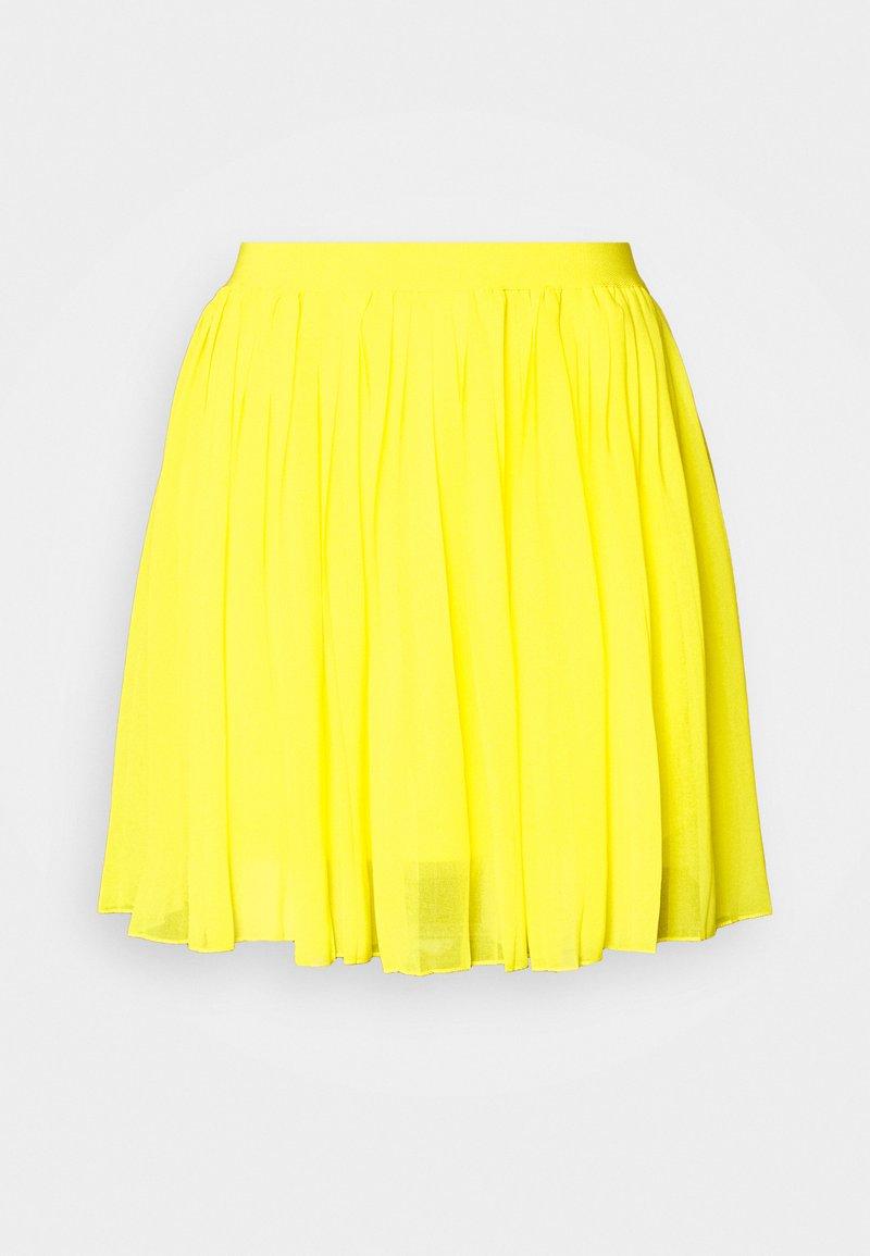 NA-KD - MINI PLEATED SKIRT - A-line skirt - yellow