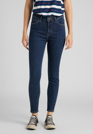 SCARLETT HIGH ZIP - Jeans Skinny Fit - stone travis
