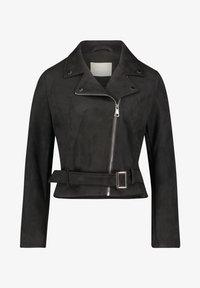 Amber & June - MIT GÜRTEL - Leather jacket - schwarz - 3
