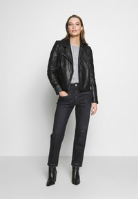 DRYKORN - PAISLY - Leather jacket - black - 1