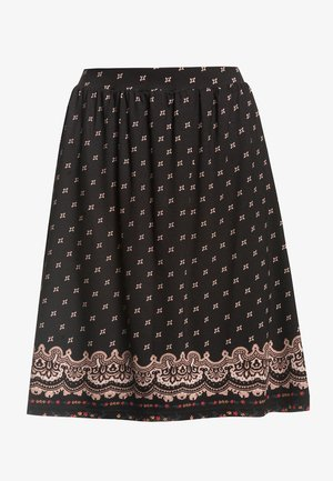 ROCK HEIDI SWING  - A-line skirt - schwarz allover