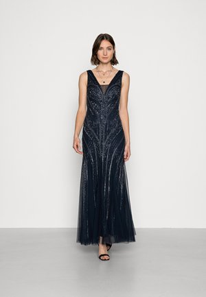 BEADED GOWN WITH GODETS - Occasion wear - midnight