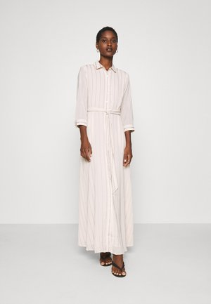 SAVANNAH MAXI - SOFT SATIN - Skjortekjole - black stripe