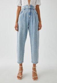 PULL&BEAR - Relaxed fit jeans - mottled light blue - 0