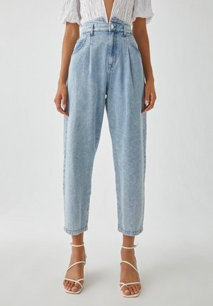 Jean boyfriend - mottled light blue