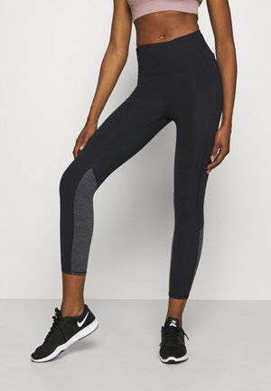 SO SOFT - Leggings - black marle splice