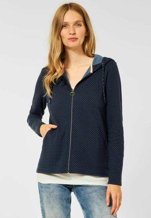DOUBLEFACE - Zip-up sweatshirt - blau