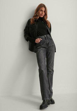 RECYCELTES SCHLITZ - Long sleeved top - black