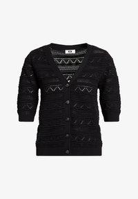 WE Fashion - MET STRUCTUUR - Gilet - black - 5