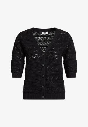 MET STRUCTUUR - Cardigan - black
