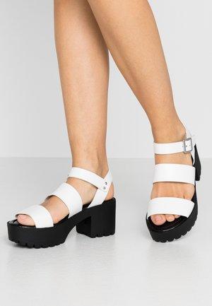 CARTERR - Platform sandals - white paris