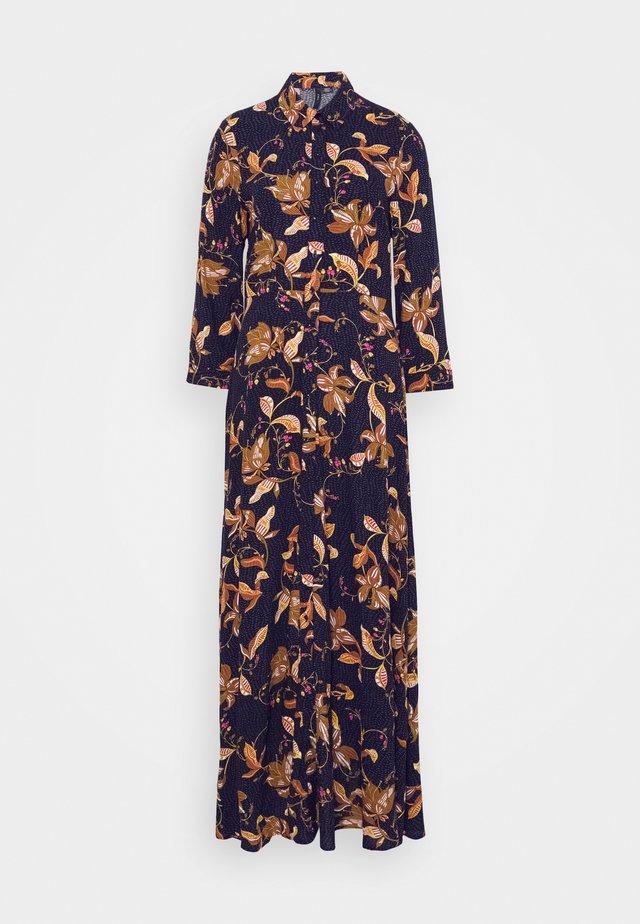 YASSAVANNA FLORA LONG DRESS - Maxi-jurk - black