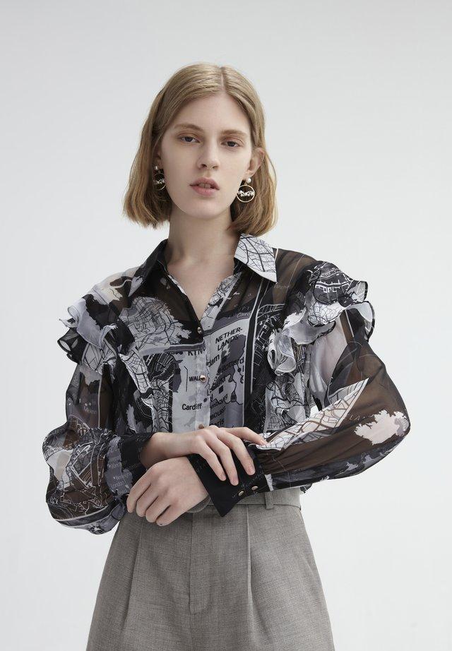 SEE-THROUGH - Button-down blouse - dark gray