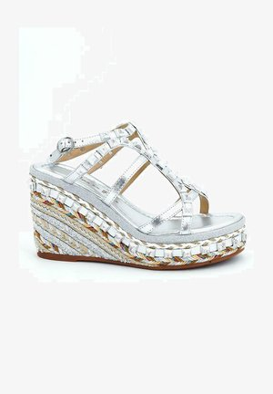 DALLAS - Wedge sandals - silver