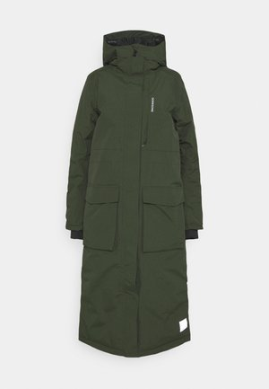 LEYA WOMEN'S LONG - Zimní kabát - deep green