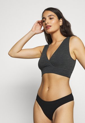 BRA - Top - dark grey melange