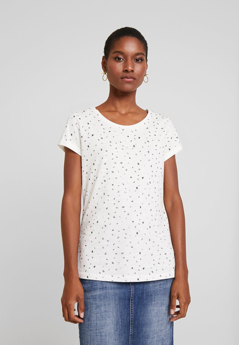 edc by Esprit - CORE - T-shirt z nadrukiem - off white