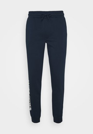 JJIGORDON SIDE SOFT PANTS - Tracksuit bottoms - navy blazer