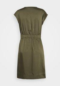 DKNY - CAP V NECK DRESS - Day dress - rosemary - 7