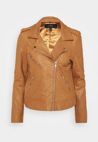 Vero Moda - VMMILANO JACKET - Leather jacket - cognac - 4