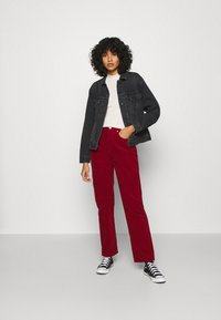 Tommy Jeans - HARPER STRAIGHT ANKLE - Trousers - wine red - 1