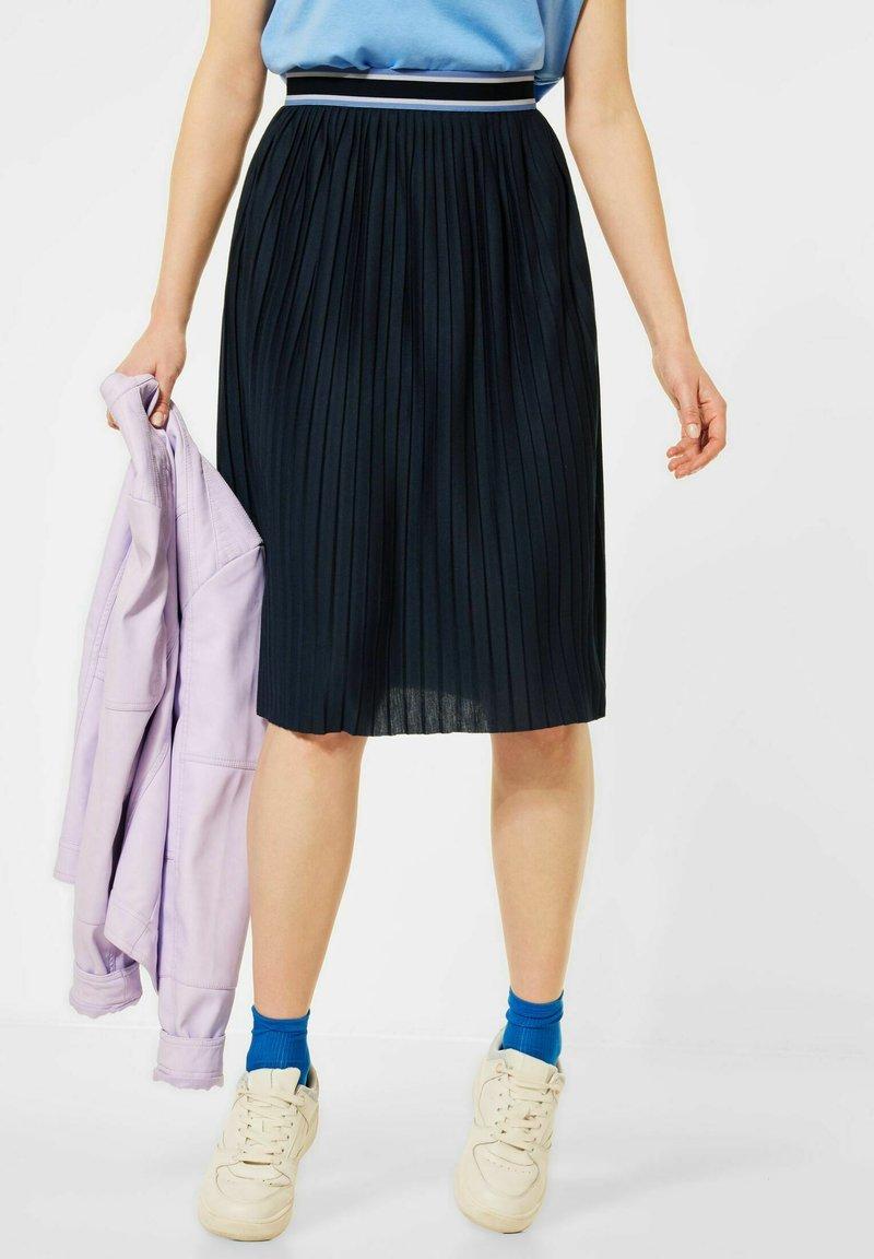 Cecil - A-line skirt - blau