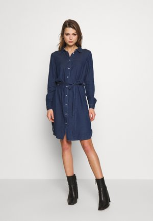 VIBISTA BELT DRESS - Denim dress - dark blue