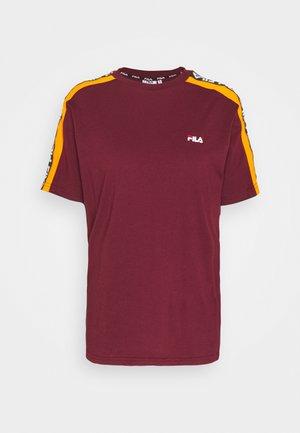 TANDY TEE - T-shirts print - tawny port/orange popsicle