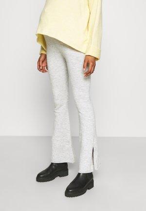 MATERNITY FRIENDLY SPLIT SIDE MATCH BACK PANT - Leggings - washed grey