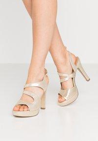 Menbur - High heeled sandals - gold - 0