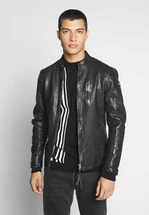 WESNEY - Leather jacket - black