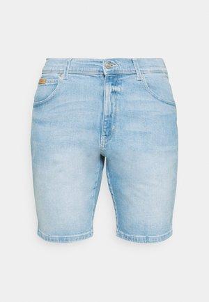 TEXAS - Denim shorts - clear blue