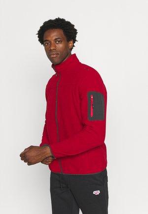 MAN JACKET - Fleece jacket - blood