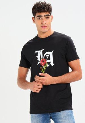 LA ROSE - Print T-shirt - black