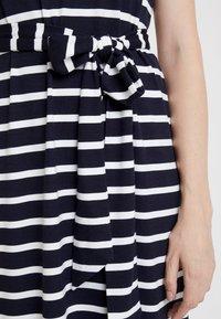 Banana Republic - V NECK TIE WAIST DRESS STRIPE - Jersey dress - navy - 6