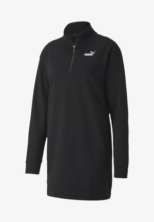 ESSENTIALS HALF ZIP - Robe en jersey - black
