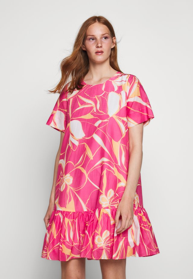 Freizeitkleid - pink/multi