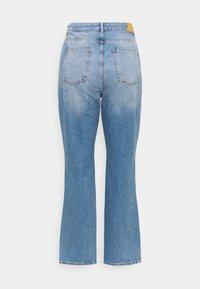 Simply Be - SPLIT HEM  - Straight leg jeans - stone blue denim - 1